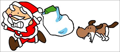 ppt素材分享:卡通圣诞老人
