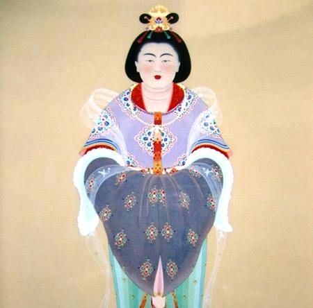 日本历史人物:光明皇后图片