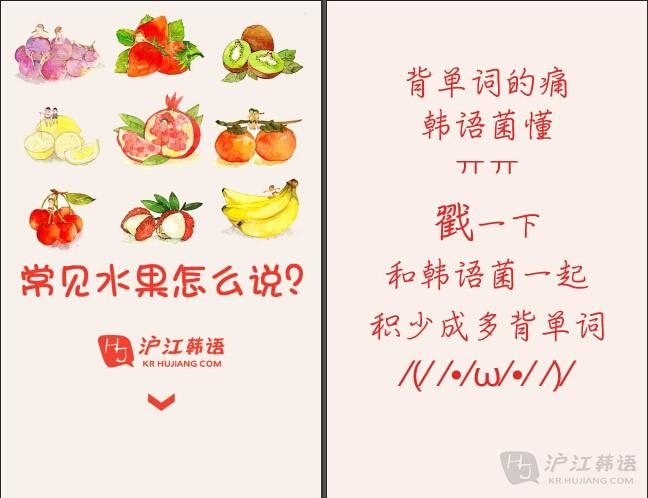 常见水果韩语怎么说?只会苹果是不行的呦!