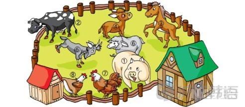 单词horse卡通