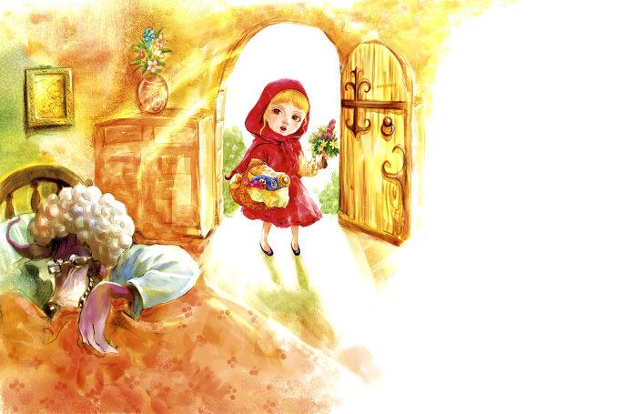 小红帽的隐喻图片
