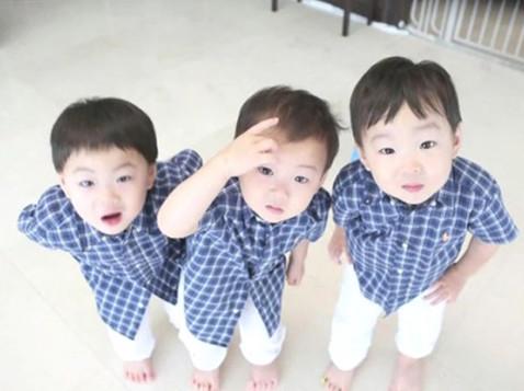 让全韩国的大婶都喜欢的三胞胎在那天的节目里面展示
